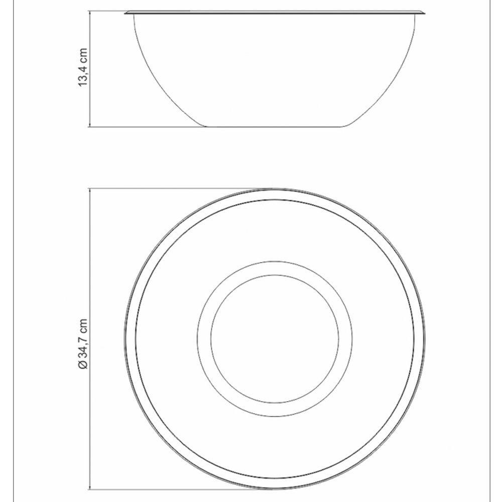 Recipiente Aço Inox Preparar/Servir 32 Cm 8 L Tramontina 61224321