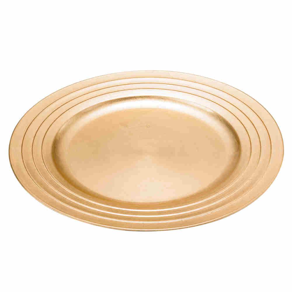 Sousplat De Plástico Dourado - Lyor