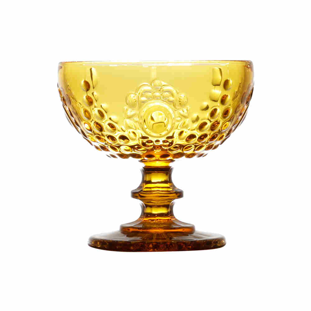 Taça Coupe De Vidro Olimpo Âmbar 6699 Lyor