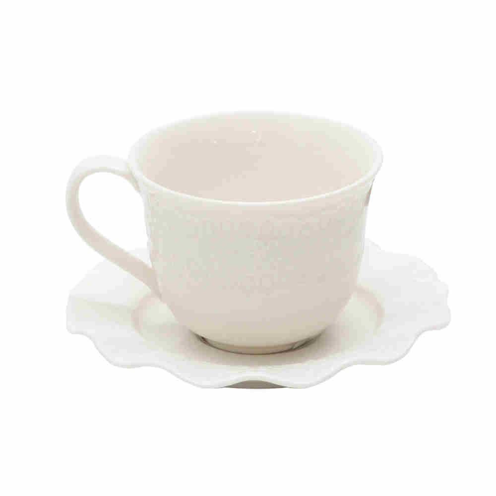 Xicaras P Chá De Porcelana Princess 200Ml 8162 - Lyor