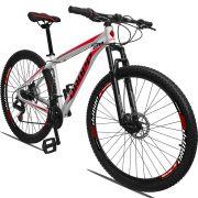 Bicicleta Aro 29 Dropp Aluminum 21v Freio a disco Mecânico  Quadro 15 Branco/Vermelho