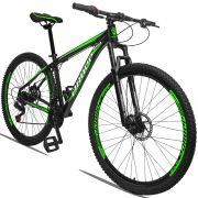 Bicicleta Aro 29 Dropp Aluminum 21v Freio a disco Mecânico Quadro 15 Preto/Verde
