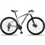 Bicicleta Aro 29 Dropp Aluminum 21v Freio a disco Mecânico Quadro 17 Branco/Preto