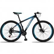 Bicicleta Aro 29 Dropp Aluminum 21v Freio a disco Mecânico Quadro 17 Preto/Azul