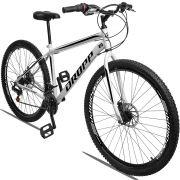 Bicicleta Aro 29 Dropp Sport 21v Garfo Rígido Quadro 19 Branco/Preto