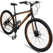 Bicicleta Aro 29 Dropp Sport 21v Garfo Rígido Quadro 19 Preto/Laranja