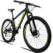 Bicicleta Aro 29 Dropp Z3 21v Câmbios Shimano Freio a Disco Hidráulico Quadro 15 Preto/Amarelo/Azul