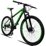 Bicicleta Aro 29 Dropp Z3 21v Câmbios Shimano Freio a Disco Mecânico Quadro 17 Preto/Verde
