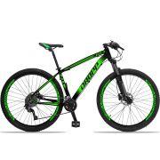 Bicicleta Aro 29 Dropp Z4x 2x9 Shimano Freio a Disco Hidráulico Suspensão com Trava no Guidão Quadro 15 Preto/Verde