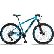Bicicleta Aro 29 Dropp Z4x 2x9 Shimano Freio a Disco Hidráulico Suspensão com Trava no Guidão Quadro 21 Azul/Preto