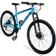 Bicicleta Aro 29 Spaceline Moon 21v Câmbio Traseiro Shimano com Suspensão Quadro 19 Azul/Preto