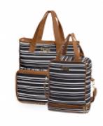 Bolsa maternidade Línea preto kit 02 peças bolsa G + frasqueira - Hug