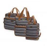 Bolsa maternidade Línea preto kit 03 peças bolsas G e M + frasqueira - Hug