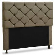 Cabeceira Caribe Plus King 195cm Suede Bege