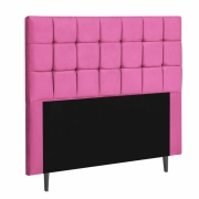 Cabeceira Espanha Estofada Queen 160cm Suede Pink Com Strass Bela Casa Shop