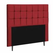 Cabeceira Espanha Estofada Queen 160cm Suede Vermelho Com Strass Bela Casa Shop