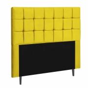 Cabeceira Espanha Estofada Solteiro 90cm Suede Amarelo Com Strass Bela Casa Shop