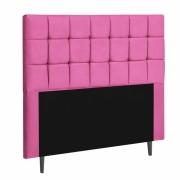 Cabeceira Espanha Estofada Solteiro 90cm Suede Pink Com Strass Bela Casa Shop