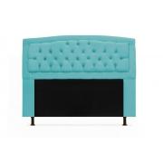 Cabeceira Geovana Plus Suede Azul Turquesa 140cm Solteiro -Bela Casa Shop