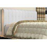 Cabeceira Kiara 140cm Tecido Sintético Branco Casal