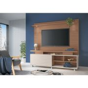 Home Theater Garbo Nature/Off White - HB Móveis