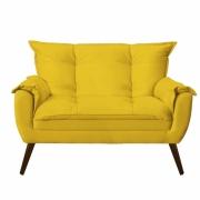 Namoradeira Decorativa Opala Suede Amarelo Pés Palito -Bela Casa Shop