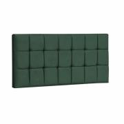 Painel Espanha Estofada Casal 140cm Suede Verde Com Strass Bela Casa Shop