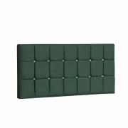 Painel Espanha Estofada Casal 140cm Suede Verde Com Strass Branco Bela Casa Shop