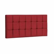 Painel Espanha Estofada Casal 140cm Suede Vermelho Com Strass Bela Casa Shop