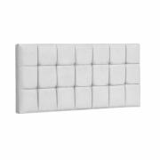 Painel Espanha Estofada King 195cm Tecido Sintético Branco Com Strass Branco Bela Casa Shop