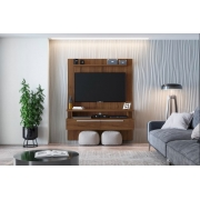 Painel Home New Caju Off White/Nogueira - Linea Brasil