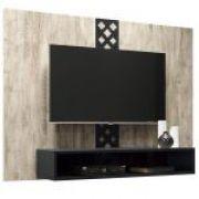 Painel para TV HB Móveis Form Aspen Preto - HB Móveis