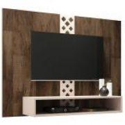 Painel para TV HB Móveis Form Deck Off White - HB Móveis