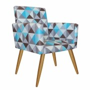 Poltrona Decorativa Nina Triângulo Azul