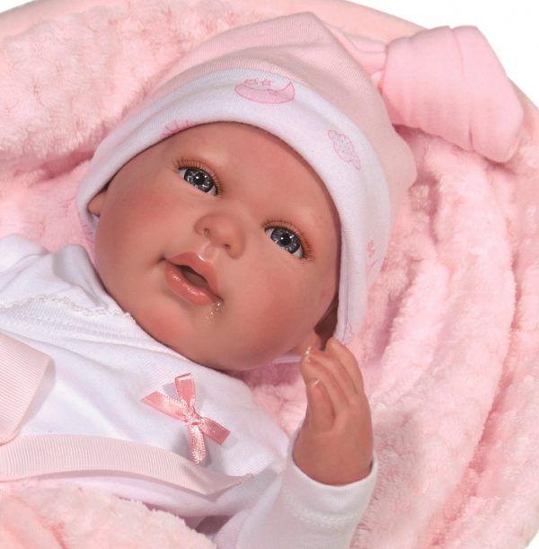 Boneca Bebê Reborn Olhos Abertos  - Baby Brink