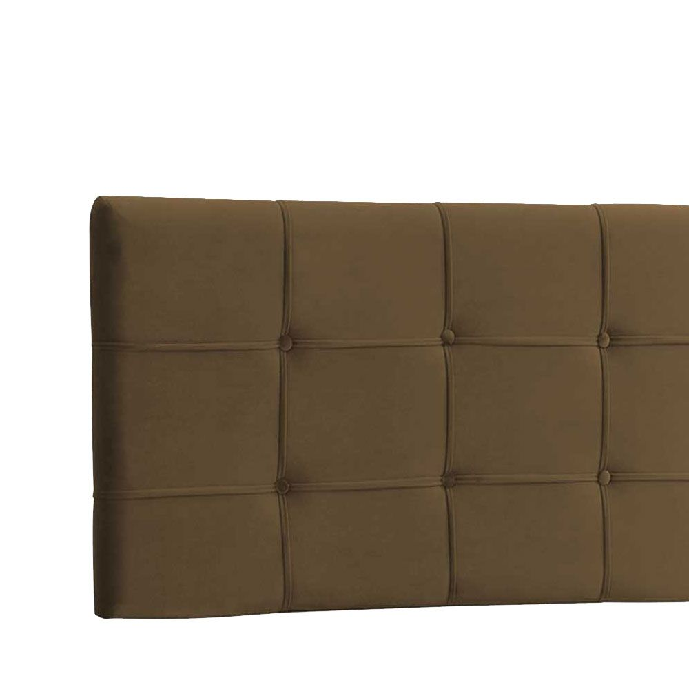 Cabeceira Painel Casal Ana Luisa 140 cm Suede Marrom