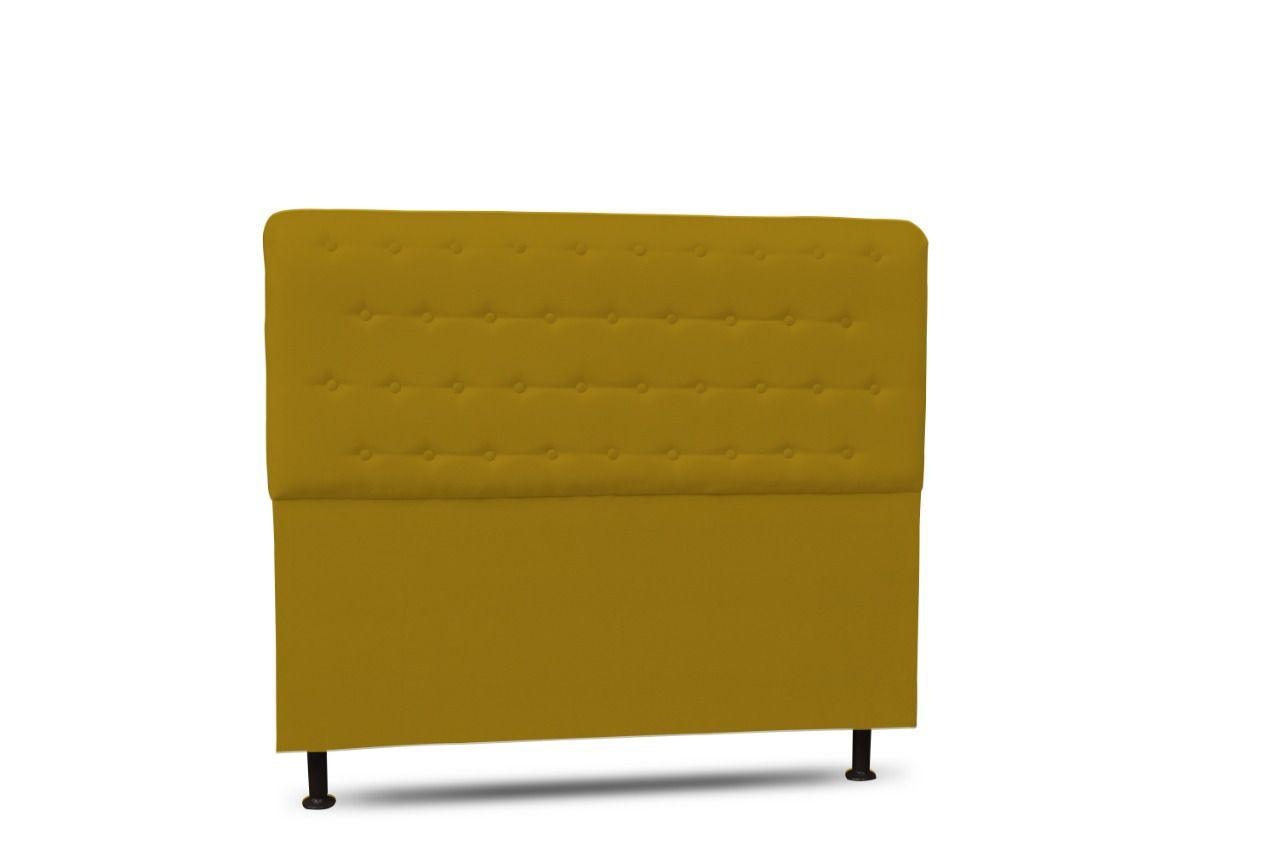 Cabeceira Brenda Queen 160cm Suede Amarelo