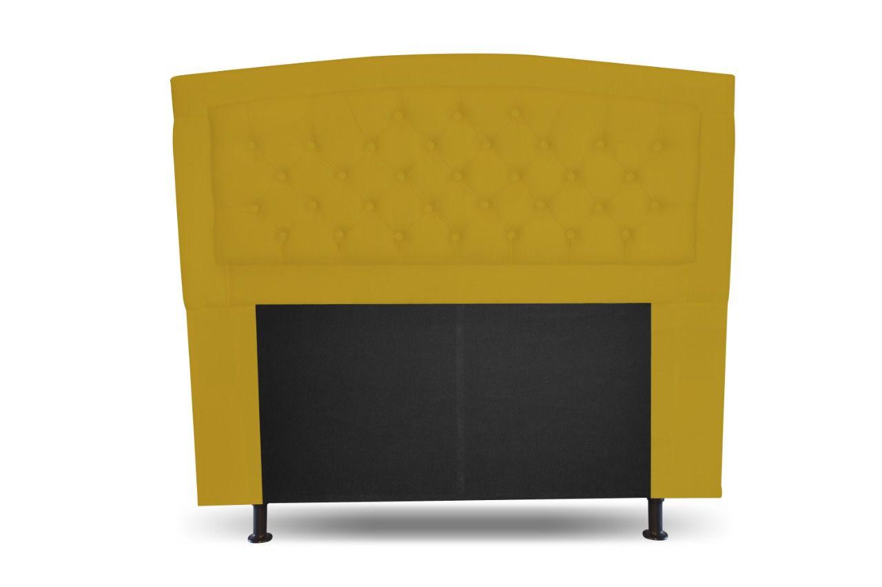 Cabeceira Cassia Solteiro 100cm Amarela