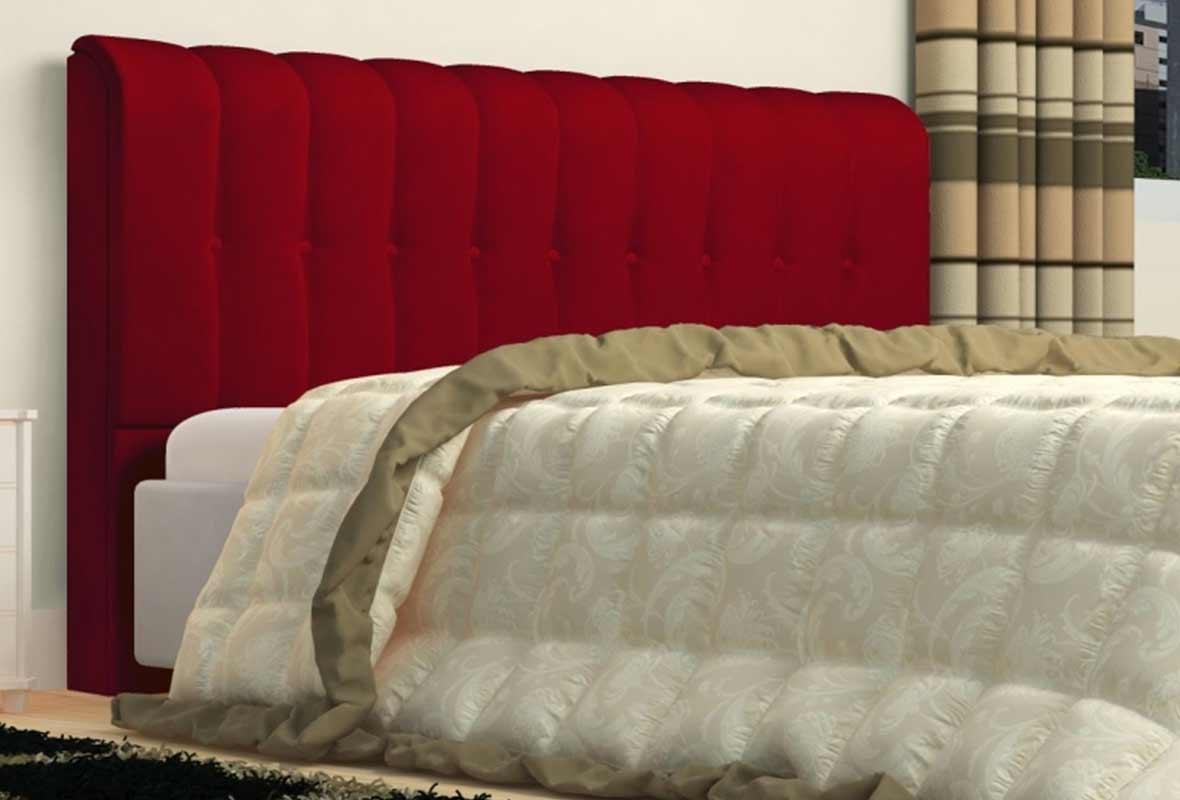 Cabeceira Kiara 140cm Vermelho Casal