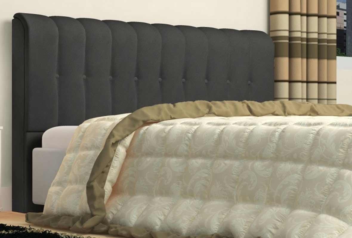 Cabeceira Kiara 160cm Cinza Queen