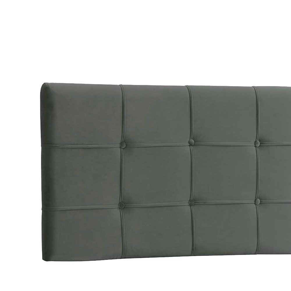 Cabeceira Painel Casal Ana Luisa 140 cm Suede Cinza