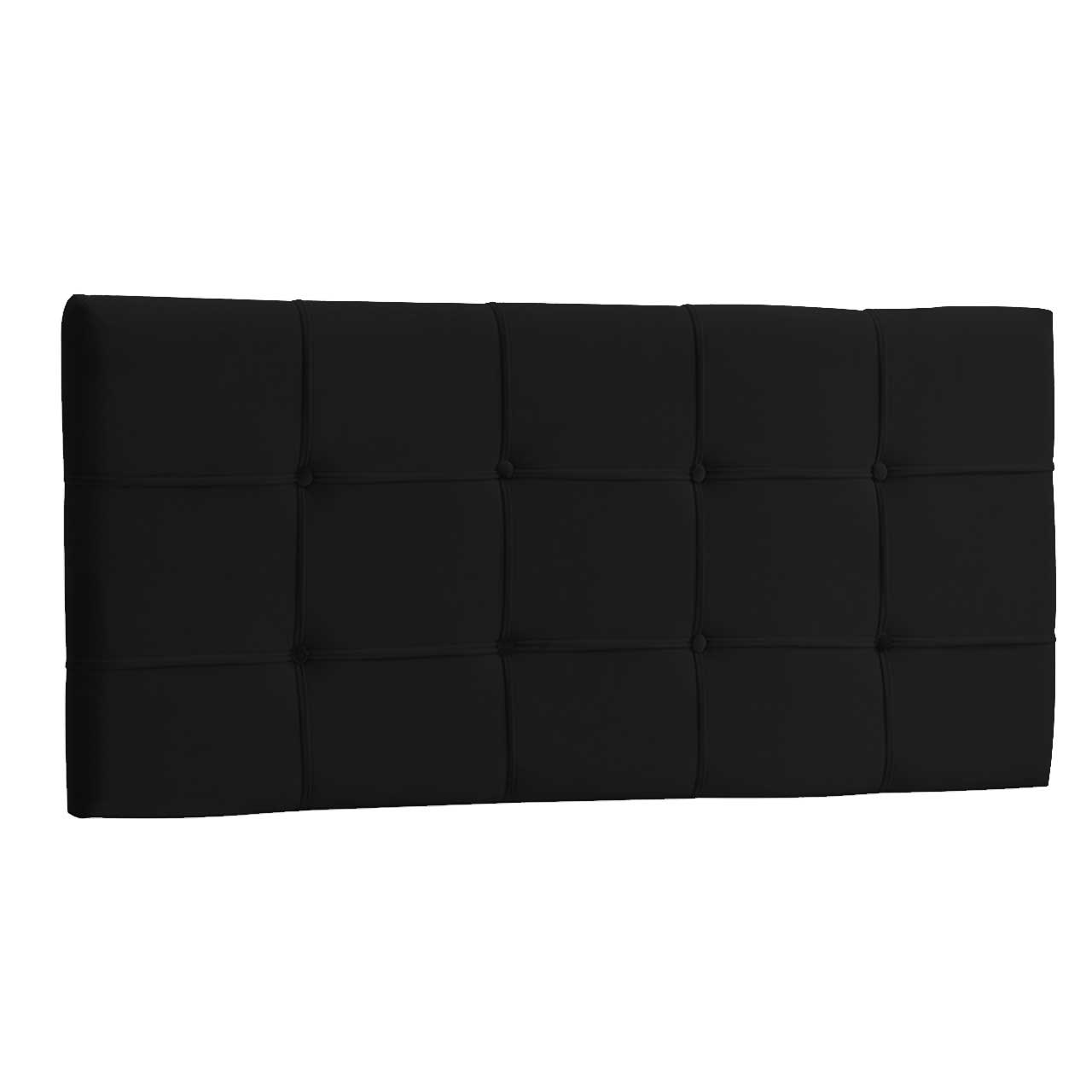 Cabeceira Painel King Ana Luisa 1,95 m Suede Preto