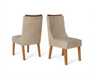Cadeira De Jantar AMELIA TELHA LINHO ARIDO- CONJUNTO COM 2 CADEIRAS