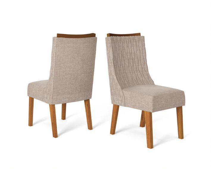 Cadeira De Jantar AMELIA TELHA LINHO URBANO- CONJUNTO COM 2 CADEIRAS