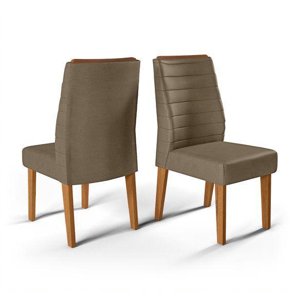 Cadeira De Jantar CURVATA TELHA CAMURÇA-CONJUNTO COM 2 CADEIRAS