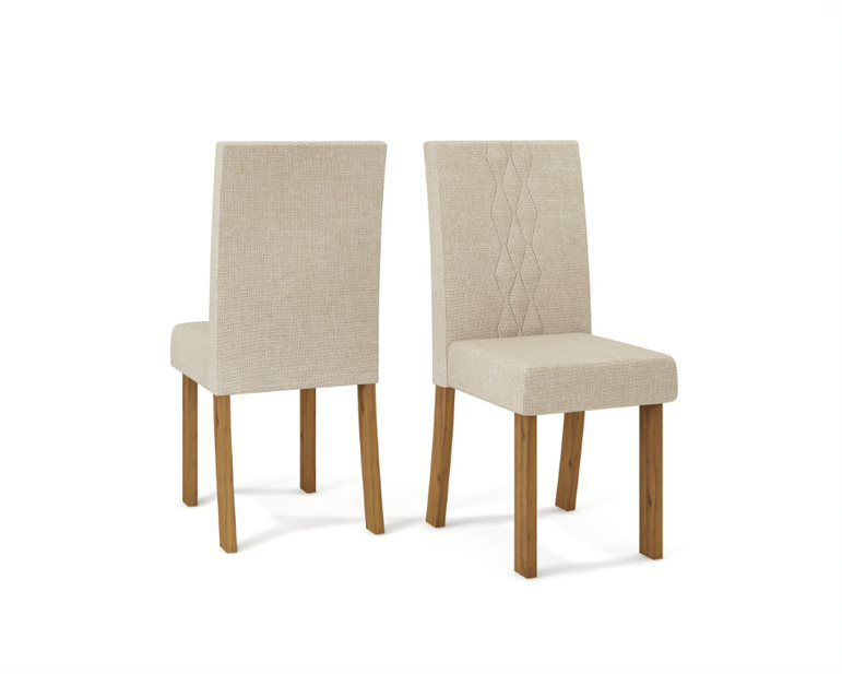 Cadeira De Jantar  ELISA TELHA LINHO ÁRIDO- CONJUNTO COM 2 CADEIRAS
