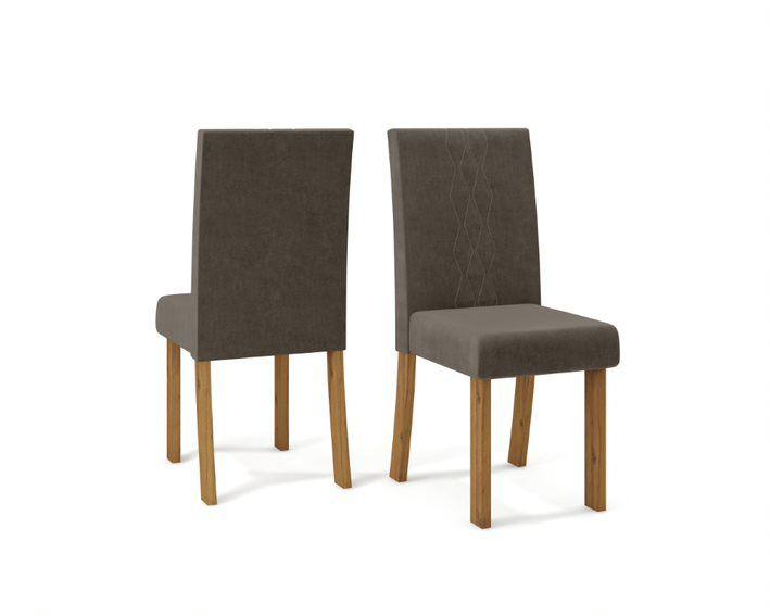 Cadeira De Jantar ELISA TELHA MARROM CAFÉ- CONJUNTO COM 2 CADEIRAS