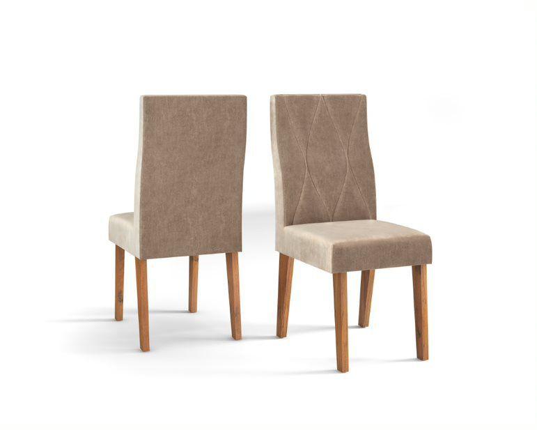 Cadeira De Jantar MANUELA TELHA CÁQUI- CONJUNTO COM 2 CADEIRAS