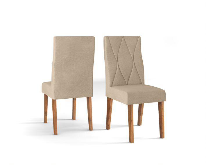 Cadeira De Jantar MANUELA TELHA LINHO ÁRIDO- CONJUNTO COM 2 CADEIRAS
