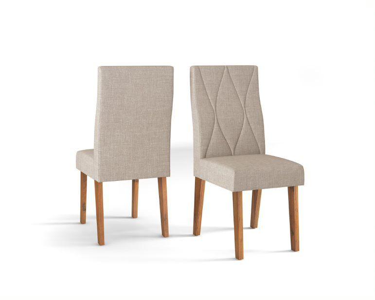 Cadeira De Jantar MANUELA TELHA LINHO URBANO -CONJUNTO COM 2 CADEIRAS